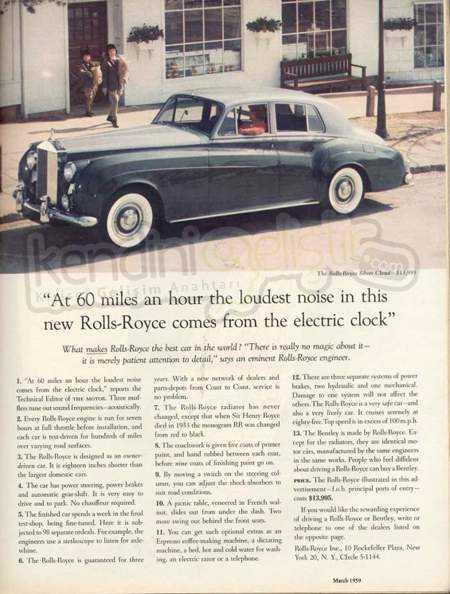 Rolls Royce Reklam Afişi